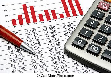finanza, statistico
