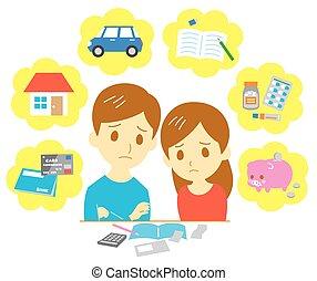 finanze, coppia, direttivo, famiglia