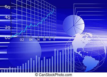 finanziario, affari, astratto, fondo, mondo, dati