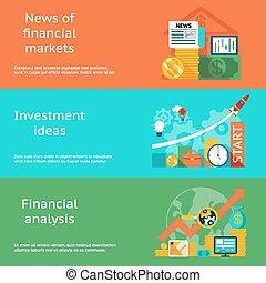 finanziario, affari, idee, analisi, mercati, notizie, concepts., investimento
