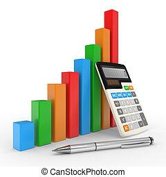finanziario, affari, successo, esposizione, grafico, mercato, casato