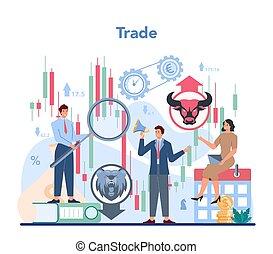 finanziario, analysis., concept., commerciante, investimento, borsa