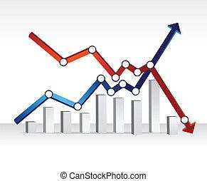 finanziario, disegno, grafico, illustrazione