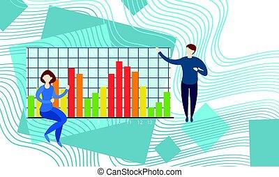 finanziario, finanza, affari, grafico, businesspeople, analisi, bancario, ragioniere, dati