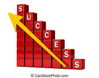 finanziario, indicare, successo, su, grafico, freccia