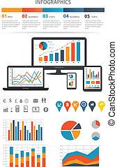 finanziario, infographics