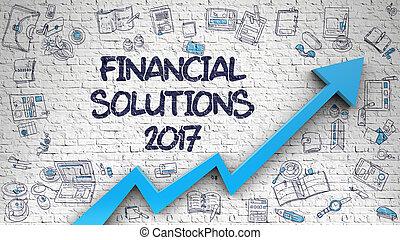 finanziario, wall., soluzioni, disegnato, 2017, mattone