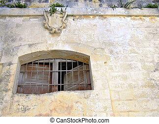 finestra, medievale, prigione
