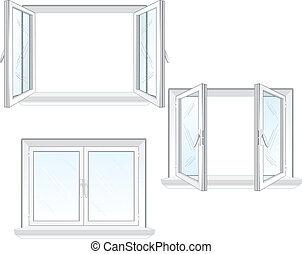 finestra, plastica