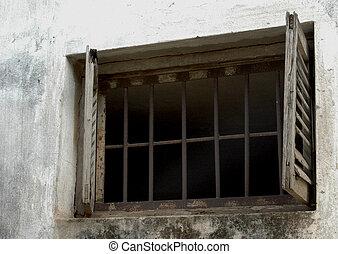 finestra, prigione