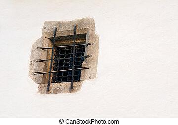 finestra, vecchio, prigione