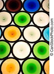finestra vetro, colorito, fondo