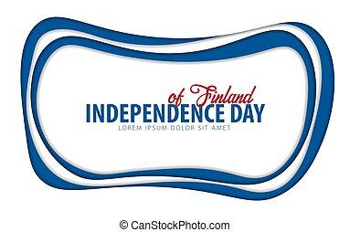 finland., taglio, card., augurio, giorno, carta, style., indipendenza