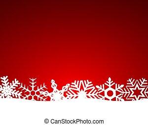 fiocchi neve, luce rossa, natale, fondo