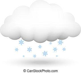 fiocchi neve, nuvola
