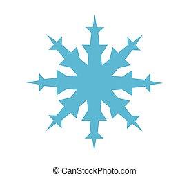 fiocco di neve, icona