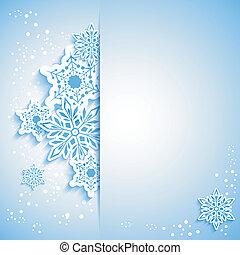 fiocco di neve, scheda natale, augurio