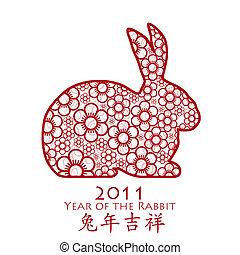 fiore, 2011, coniglio, cinese, anno