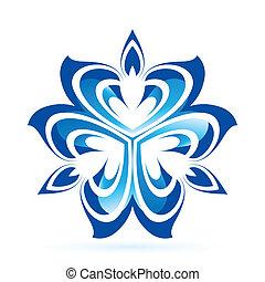 fiore blu, astratto