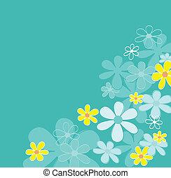 fiore blu, retro, struttura