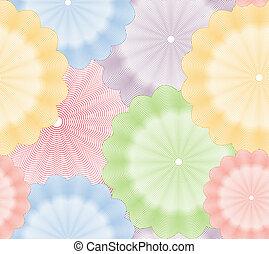 fiore, colorito, astratto, seamless, fondo., vettore