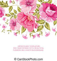 fiore dentellare, testo, decorazione, label., ornare