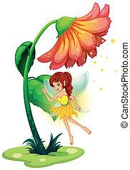 fiore, fata, gigante, sotto