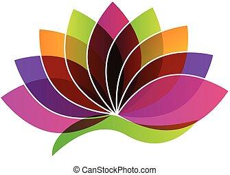 fiore, logotipo, loto