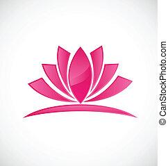 fiore, logotipo, loto, rosa