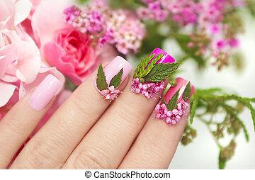 fiore, manicure.