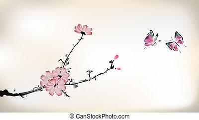 fiore, pittura
