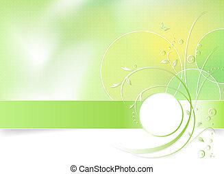 fiore primaverile, sfondo verde