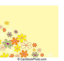 fiore, retro, fondo, struttura