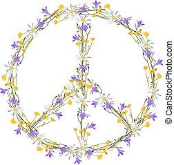fiore, simbolo, potere, pace