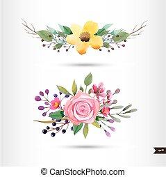fiori, acquarello