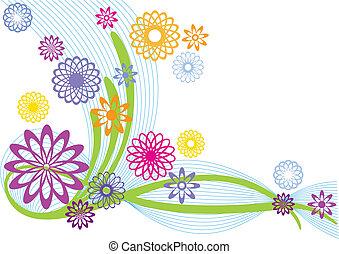 fiori, astratto