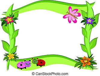 fiori, cornice, spesso, errori del software