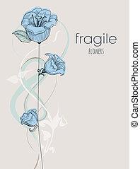 fiori, delicato, fondo