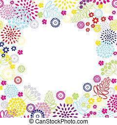 fiori, frame., luminoso