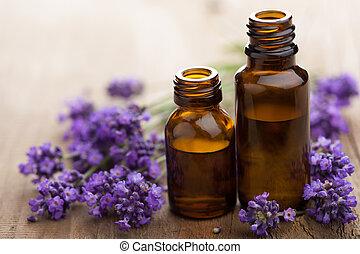 fiori, lavanda, olio essenziale
