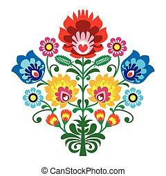 fiori, popolo, ricamo