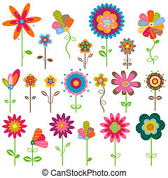 fiori, retro