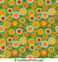 fiori, sfondo verde