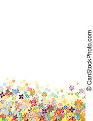 fiori, vettore, parte inferiore