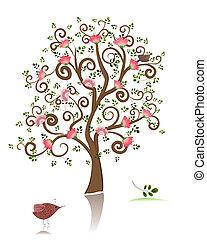 fioritura, ornamentale, albero