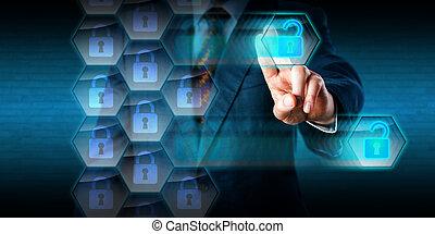 firewall, fori, colletto, incisione, criminale, bianco