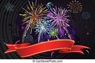 firework, colorito