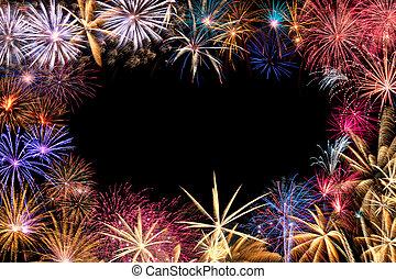 fireworks, bordo