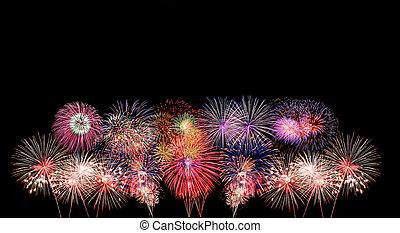 fireworks, colorito