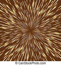 fireworks, dorato, quadrato, centro, scoppio, luce, stilizzato, mezzo, image.